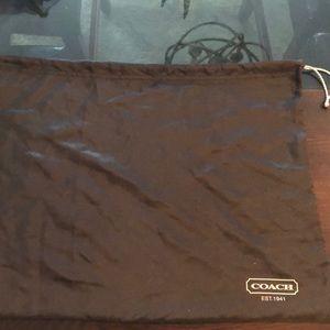 Authentic Coach dust bag